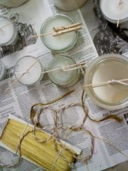 Kerzen aus Wachs-Resten