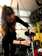 Schrauben am Fahrrad